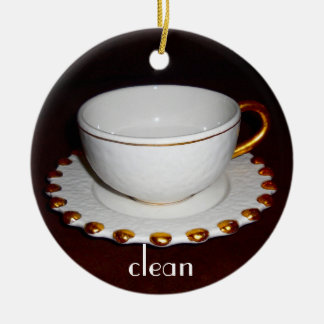 Clean or Dirty dishes sign for Dishwasher Round Ceramic Decoration