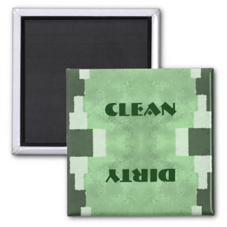 Clean or Dirty Dishwasher Square Magnet