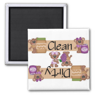 Clean or Dirty Peanut Butter and Jelly Dishwasher Square Magnet