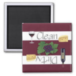 Clean or Dirty Wine Dishwasher Magnet