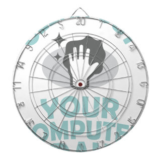 Clean Out Your Computer Day  - Appreciation Day Dartboard