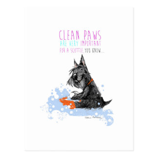 Clean Paws Scottie Dog Post Cards