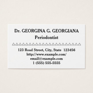 Clean Periodontist Business Card