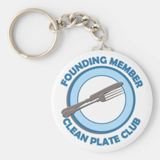 Clean Plate Club Founding Member Basic Round Button Key Ring