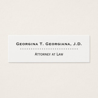 Clean & Professional Attorney Business Card