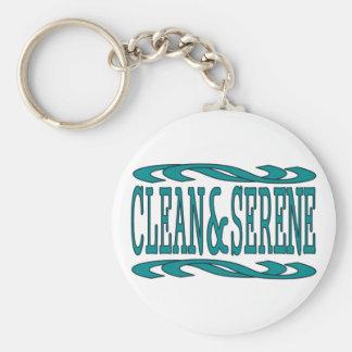 Clean & Serene Basic Round Button Key Ring