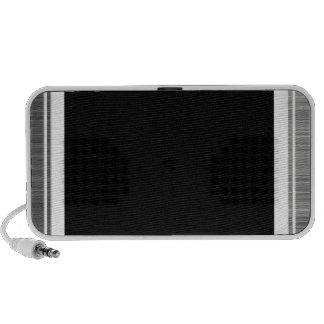 Clean Silver Metallic Edge Border Portable Speaker