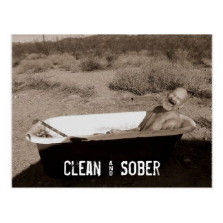 Clean & Sober Postcard
