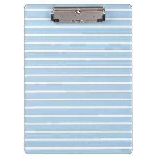 Clean Stripes Light Blue Clipboard