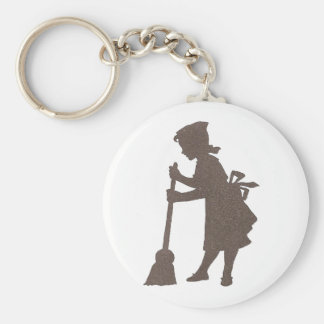 Clean Sweep Basic Round Button Key Ring