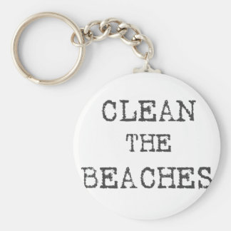 Clean The Beaches Keychains