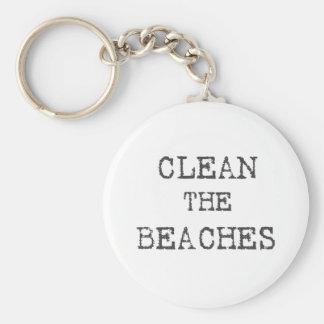 Clean The Beaches Keychain