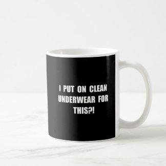 Clean Underwear Basic White Mug