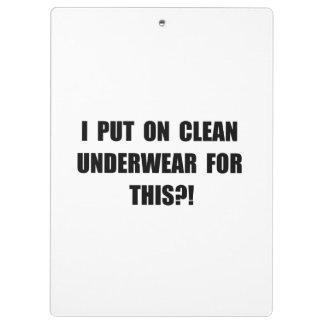 Clean Underwear Clipboards