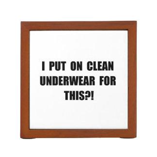 Clean Underwear Desk Organisers