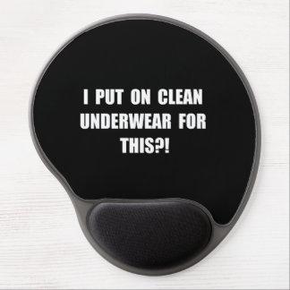 Clean Underwear Gel Mouse Pad