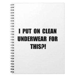 Clean Underwear Notebooks