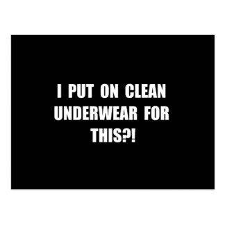 Clean Underwear Postcard