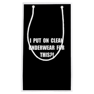Clean Underwear Small Gift Bag