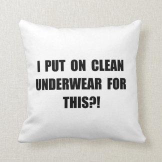 Clean Underwear Throw Cushion