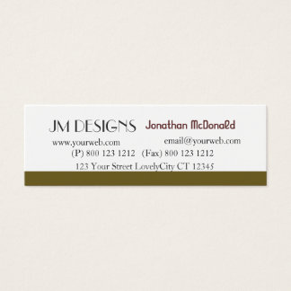 Clean Unique Plain Modern Mini Business Card