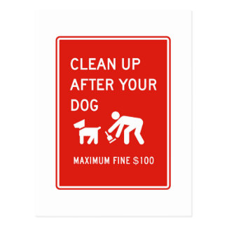 Clean Up After Your Dog, Sign, US Post Cards