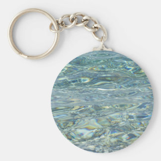 Clean Water Basic Round Button Key Ring
