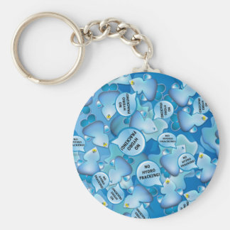 Clean Water Drops Call Out No Hydro-Fracking! Keychain