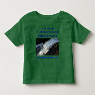 Clean Water toddler shirt