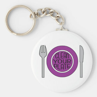 Clean Your Plate Keychains