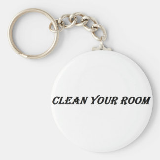clean your room basic round button key ring