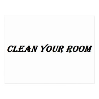 clean your room postcard