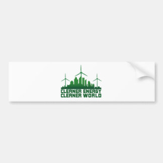 Cleaner Energy Cleaner World Bumper Sticker
