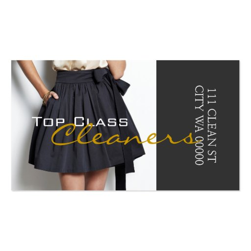 Cleaners Dry Cleaning Alteration Tailoring Business Card Templates