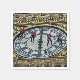 Cleaners on Big Ben London Disposable Serviettes