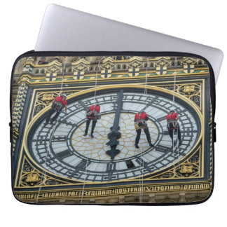 Cleaners on Big Ben London laptop sleeve