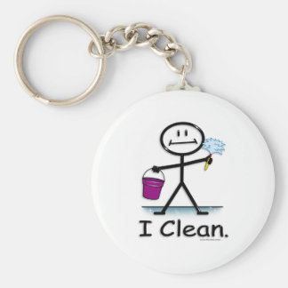 Cleaning Basic Round Button Key Ring