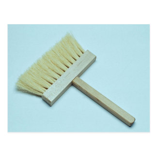 Cleaning brush postcards