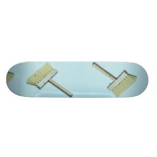 Cleaning brush skateboard