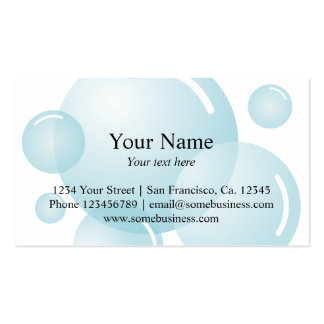 Cleaning business card template   Soap bubbles