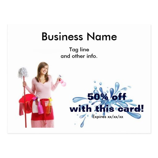 Cleaning Business postcard