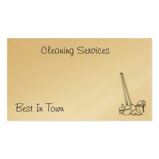 Cleaning card business card templates zazzle for Cleaning business cards templates free