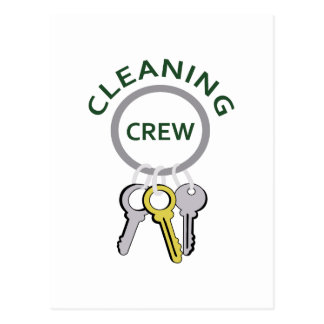 CLEANING CREW POSTCARD