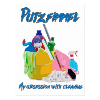 Cleaning Obsession Postcard