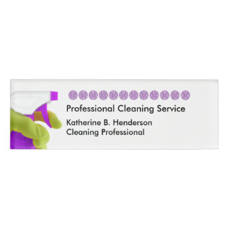 Cleaning Professional Name ID Badges Name Tag