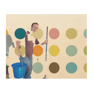 cleaning rooms and kitchen by Heiko Friedlein Wood Canvas