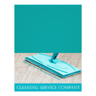 Cleaning service 21.5 cm x 28 cm flyer
