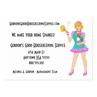 Housekeeping Service Business Cards 700 Housekeeping