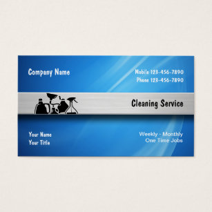 Commercial cleaning business cards business card printing zazzle cleaning service business cards colourmoves Gallery