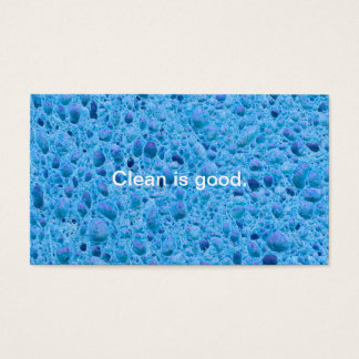 Cleaning service house cleaners maids fun sponge business card